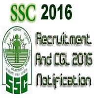 SSC Recruitment 2016 Notification