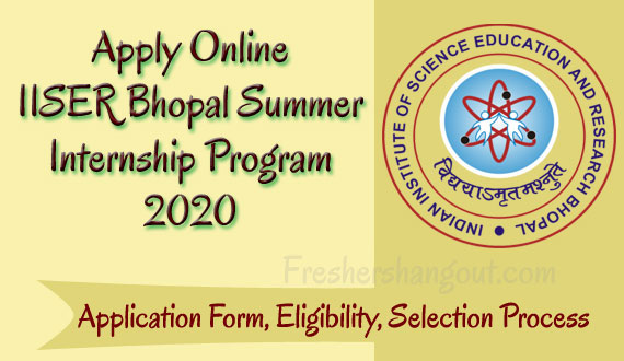 IISER Bhopal Summer Internship Program 2020