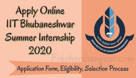IIT Bhubaneshwar Summer Internship 2020