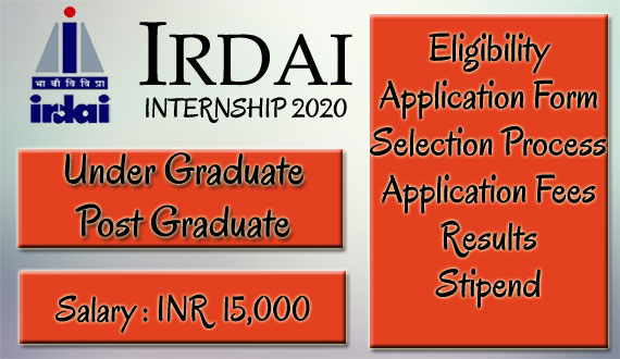 IRDAI Summer Internship 2020