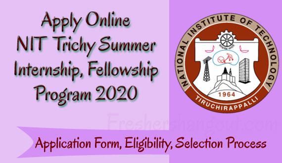 NIT Trichy Summer Internship 2020